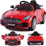 Mercedes-Benz GT-R GTR SoftStart Kinderauto Kinderfahrzeug Kinder Elektroauto schwarz-Weiss-rot-grün