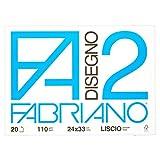Fabriano Album Disegno F2 4Ang Liscio - Confezione da 20 Fogli