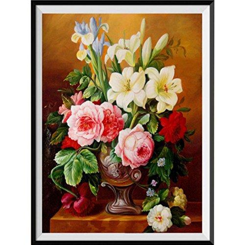 Felicove 5D Stickerei Gemälde, Strass Eingefügt DIY Diamant Malerei Kreuzstich Moderne Stil Blackout Gemälde (Kreuzstich-muster Portrait)