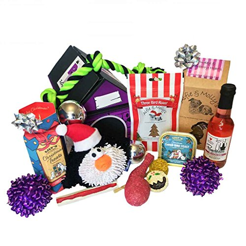 Christmas Hamper for Dogs with Pawsecco Wine