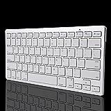 Ultra Slim Wireless Bluetooth Tastatur für Apple iOS iPad 234Mac Powerbook iBook MacBook und und jedes Bluetooth-Fähige Gerät Silber As Pic Show