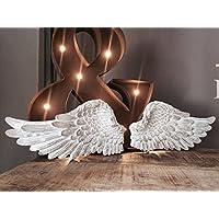 Par de alas de ángel adornado lamentable Querubín arte de la pared de la vendimia decoración colgante