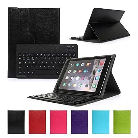 Bluetooth Tastatur CoastaCloud Ultra-Slim Hülle Keyboard Case Blau Für alle Windows / Android / IOS und Mobil mit 9-10.6 Zoll (Geeignete Tablettengröße : Länge 24x26.3cm;Breite:18cm ) für 10