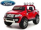 Ford Ranger Wildtrak Elektrisches Auto für Kinder, 2 MOTOREN, Zweisitzer, 2.4Ghz Bluetooth Fernbedienung, red, USB, SD karte, Original-Ford-Lizenz