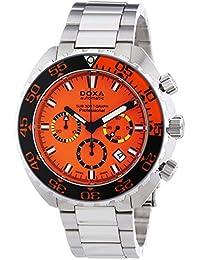 DOXA 878.10.351.10 - Reloj cronógrafo automático para hombre, correa de acero inoxidable color plateado