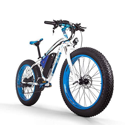 BIT RICHE Vélo Électrique Hommes E-vélo Fat Snow Bike 1000W-48V-17Ah Li-batterie 26 * 4.0 VTT...