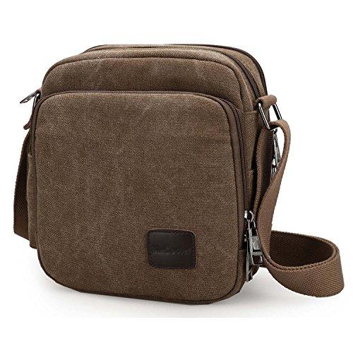 MeCool Schultertasche Canvas Umhängetasche Designer Marken Reisetasche Taschen für Männer Schule Retro Weekender Freitag Handtaschen Günstig Messenger Strandtasche Sporttasche Reisetaschen Beige