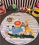 BEAUTIFULNUHAI Für Christmas1.5m Baumwolle Teppich Runde Kinder Gym Rug Spielmatte Baby Spielzeug Beutel Baby Krabbeln Decke Outdoor Pad