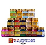 #1: Flash Acrylic Colour Set (16 Colours ) 50 ML