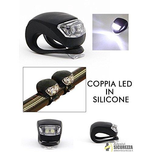 stickerslab Verdunkelungsfolie-2flammig Strahler LED weiße Silikon Universal für die Sicherheit des Fahrrad -