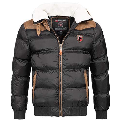 Geographical Norway Emei Herren Winterjacke Steppjacke Schwarz Gr. L