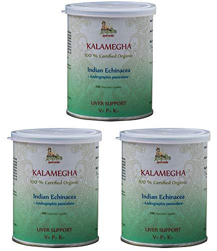 Kalmegh Bio (108 Veg Kapseln - 3er pack) - Andrographis paniculata 500mg je Kapsel - 100% Bio-zertifiziertes pflanzliches Nahrungsergänzungsmittel der Lacon GmbH