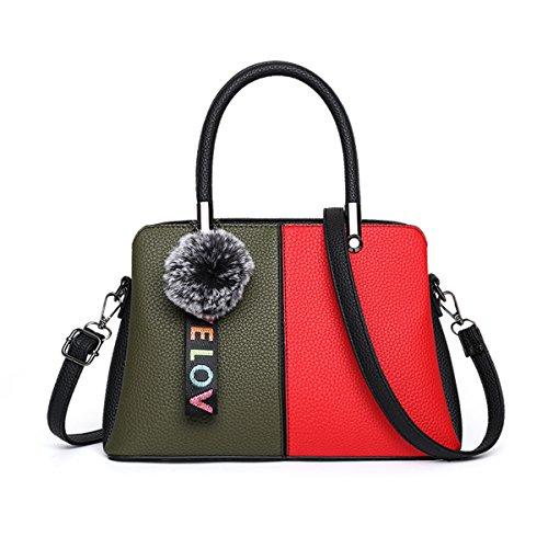 247617dd66741 Ruiren Multifunktions Bunte Reise Shopping Soft Bag Portable Umhängetasche  Frauen Messenger Bags Frauen Geldbörse Schultertasche Grün