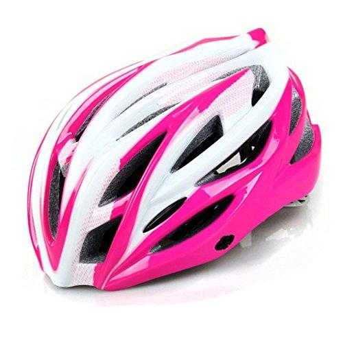 225g poids ultra léger - casque de vélo spécialisé, casque de vélo de sport réglable casques de vélo vélo pour la route et vélo de montagne, moto pour les hommes et les femmes adultes, la jeunesse - Racing, la sécurité ( Couleur : Rose red )