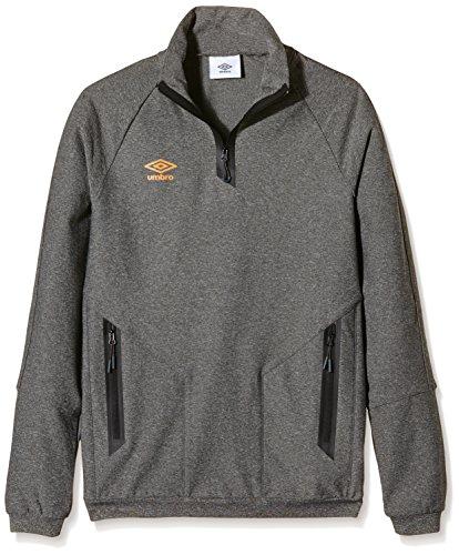Umbro Pro Training Sweatshirt HALF ZIP Herren schwarz - Noir Chiné