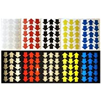 StickersLab - Frecce adesive rifrangenti scotchlite materiale marca 3M serie 580 (Blu)