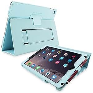 Étui iPad 3 & 4, Snugg™ - Housse de Protection Bleu Clair, Style Smart Case Avec Garantie à Vie Pour Apple iPad 3 et iPad 4