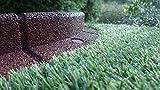 FlexiBorder, bordure da giardino, flessibili, resistenti alle intemperie, resistenti al tosaerba, confezione da6pezzi, ogni pezzo della lunghezza di 1 m Brown