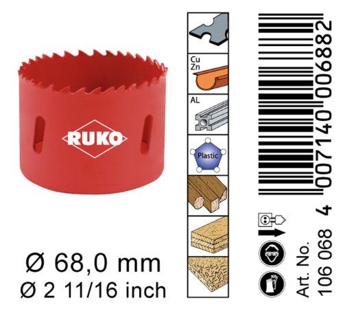 RUKO 106068 Bi - Metall Lochsäge 68 mm -
