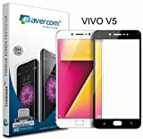 AVERCOM™ Anti Shatter 9H Premium Edge To Edge 3D Full Screen Coverage Tempered Glass Screen Guard Protector For Vivo V5 (Black)