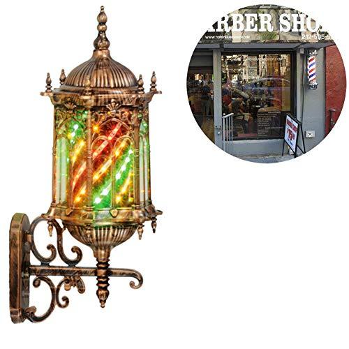 YMN Barber Shop Turn Light Früher Professionelles Retro-Friseurlicht, mit hochwertiger LED Röhre Wasserdicht, für professionellen Friseurladen,Bronze -