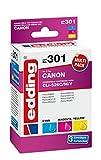 edding Tintenpatrone EDD-301 ersetzt Canon CLI-526C/M/Y Multipack 3 - Cyan, Magenta, Gelb - 3x 10,5ml