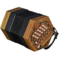 Trinity College AP-123030-button anglo-style Concertina–nogal