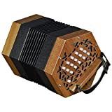 Trinity College AP-1230 30-button anglo-style Concertina, colore: noce