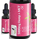 High Strength Hemp Oil Drops Infused in MCT Oil - 100% Pure & Natural - Vegan Source of Omega 3 - Made from Certified EU Hemp by NutriZing - Sustainably Sourced MCT - Strawberry Flavour - 30ml Bottle