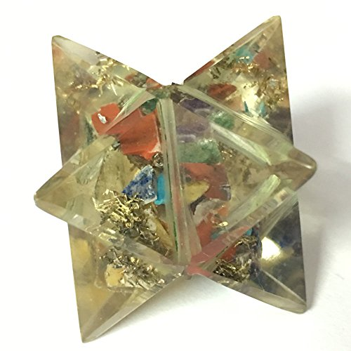 erkaba Heilige Geometrie Aura platonischen Heil Genuine Kristall Göttliche EMF Schutz Metaphysische Vital Lebensenergie Piezo-Effekt DNA w / Pouch (Sea-themen-kostüme)