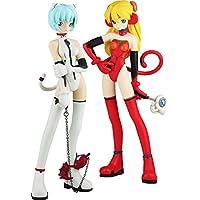 Neon Genesis Evangelion Estatuas Ayanami Rei & Sohryu Asuka Langrey Grimrock Mix Edition 17 cm