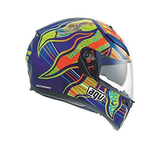 AGV 0301A0EY_004_L K-3 SV E2205 Helm TOP PLK, Mehrfarbig, Größe L