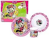Walt Disney Minnie Mouse 3 tlg Porzellan Geschirr Kinder
