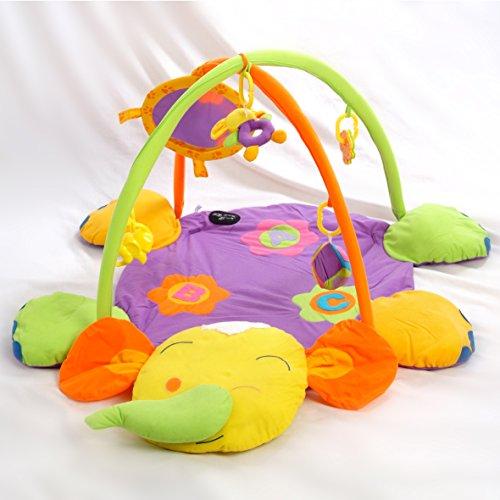 Alfombras de juego y gimnasio para bebés, mantas de actividades elefante. Regalo bebé