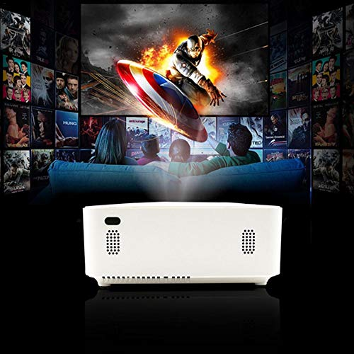 Hellycuche Portable Mini Projector  J6 Miniature Projector 1080P Ultra Clear 4000 Lumens with HDMI USB SD for Smartphone Laptop PC  Home Cinema Entertainment  Outdoor Movie   Gaming