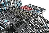 SwissKraft Black XXL Edition | Werkzeugwagen * Werkstattwagen * 6 Schubladen / 4 gefüllt mit Werkzeug | Bit Sets, Ratschen, Nüsse und vieles mehr... -