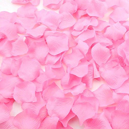 JUNGEN 1000 Stück Künstlich Rosenblätter Rosenblüten Blumenblätter aus Seide für Hochzeit Feier Deko, Rosa