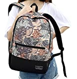 "Newspaper/Geometry/Leaf/Wallpaper Pattern Canvas Backpack Students School Bag 14""-15"" Laptop Backpack for Teenage Girls and Boys"