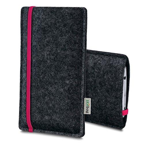 Stilbag Filztasche 'LEON' für Apple iPhone SE - Farbe: pink-anthrazit pink