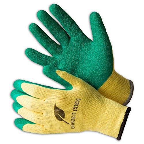 garten handschuhe 3x Garden Eden Gartenhandschuhe EN 388 | Pflanz- und Bodenhandschuhe für Arbeiten im Garten | Ideal auch als Rosenhandschuhe oder Beethandschuhe | Handschuhe zum Graben | Größe: 8 (M)
