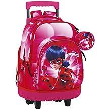 Safta 611712818 Ladybug Marinette Mochila Escolar, 45 cm, Rosa