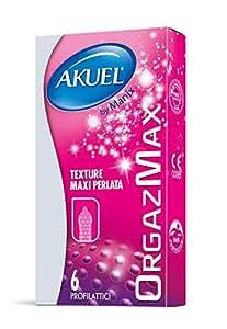 Akuel Orgazmax, Preservativi Stimolanti, 6 Pezzi