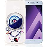 "Nnopbeclik [Coque Samsung Galaxy A5 2017 Silicone] Paillettes Briller Style Backcover Doux Soft Housse pour Samsung Galaxy A5 2017 Coque silicone (5.2 Pouce) Dreamcatcher Style Protection Antiglisse Anti-Scratch Etui ""NOT FOR A5 2016/2015"" - [Bleu]"