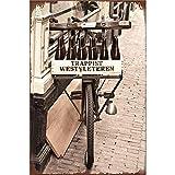 YOMIA Plaque en métal en métal pour décoration Murale Vintage Maison Café Restaurant Bar Poster Antique Iron Painting WESTVLETEREN