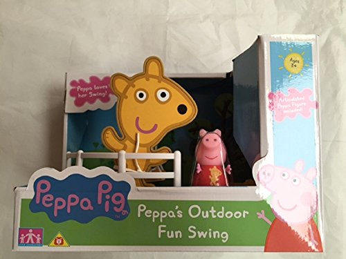 PEPPA PIG PEPPA DE OCIO AL AIRE LIBRE SWING FIGURA DE JUGUETE CON MUñECO DE PEPPA