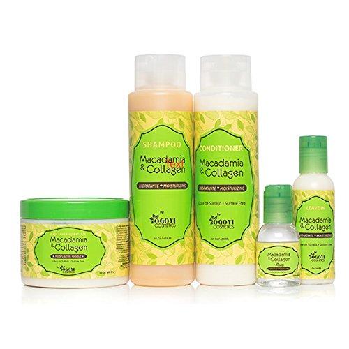 Macadamia Set con 4prodotti Shampoo, Balsamo, Maschera, lasciare in condizionatore