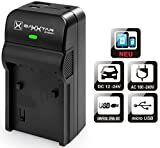 Baxxtar Razer 600 Ladegerät 5in1 - kompatibel für Akku Panasonic DMW BCG10 E BCF10 E BCJ13 E - USB-Ausgang zum Laden eines Drittgerätes