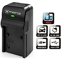 Baxxtar RAZER 600 II Cargador 5 en 1 para batería Sony NP-BX1 (70% más de potencia 100% más de flexibilidad) NUEVA con entrada de MicroUSB y salida USB para recarga de otros dispositivos móviles (Smartphones, iPhone ...)