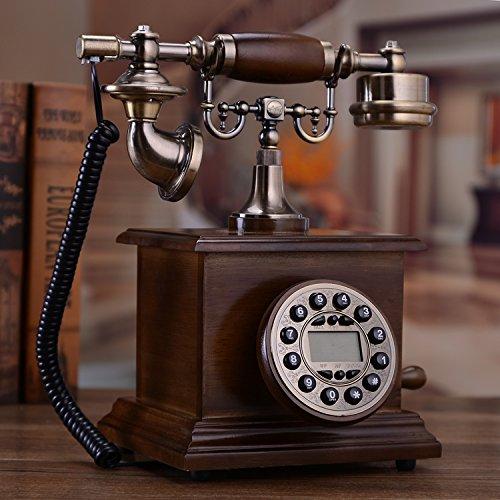 motesuvar madera maciza Antiguo teléfono, moda teléfono para el hogar, American Vintage teléfono