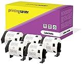 5 Rollen Brother DK11209 DK-11209 29mm x 62mm Adress-Etiketten kompatibel für Brother P-Touch QL-500 QL-550 QL-560 QL-570 QL-580N QL-650TD QL-700 QL-720NW QL-1050 QL-1060N (800 Etiketten pro Rolle)